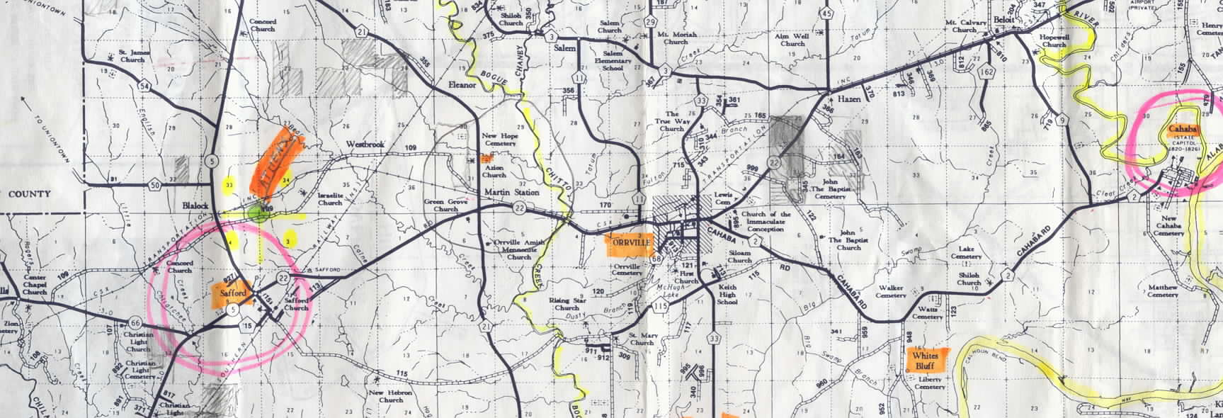 Alabama wilcox county catherine - This Is A Larger Portion Of The Map See Item 13 Above Of Dallas County Alabama Showing Its West Central Parts